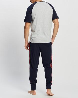 Marks & Spencer Pure Cotton Relax Slogan Pyjama Set - Two-piece sets (Navy Mix)