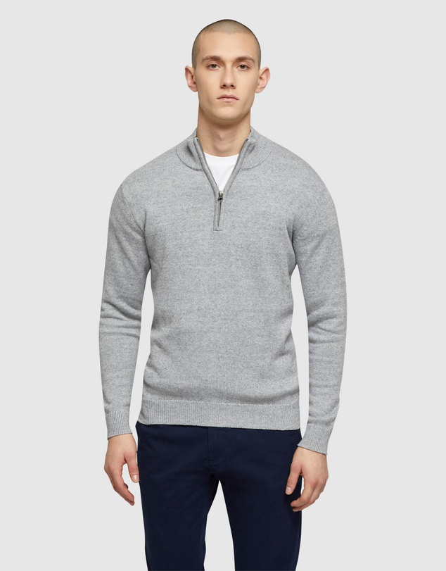 Oxford - Robert Zip Neck Knit