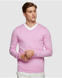 Oxford - Cotton Cashmere V-Neck Pullover