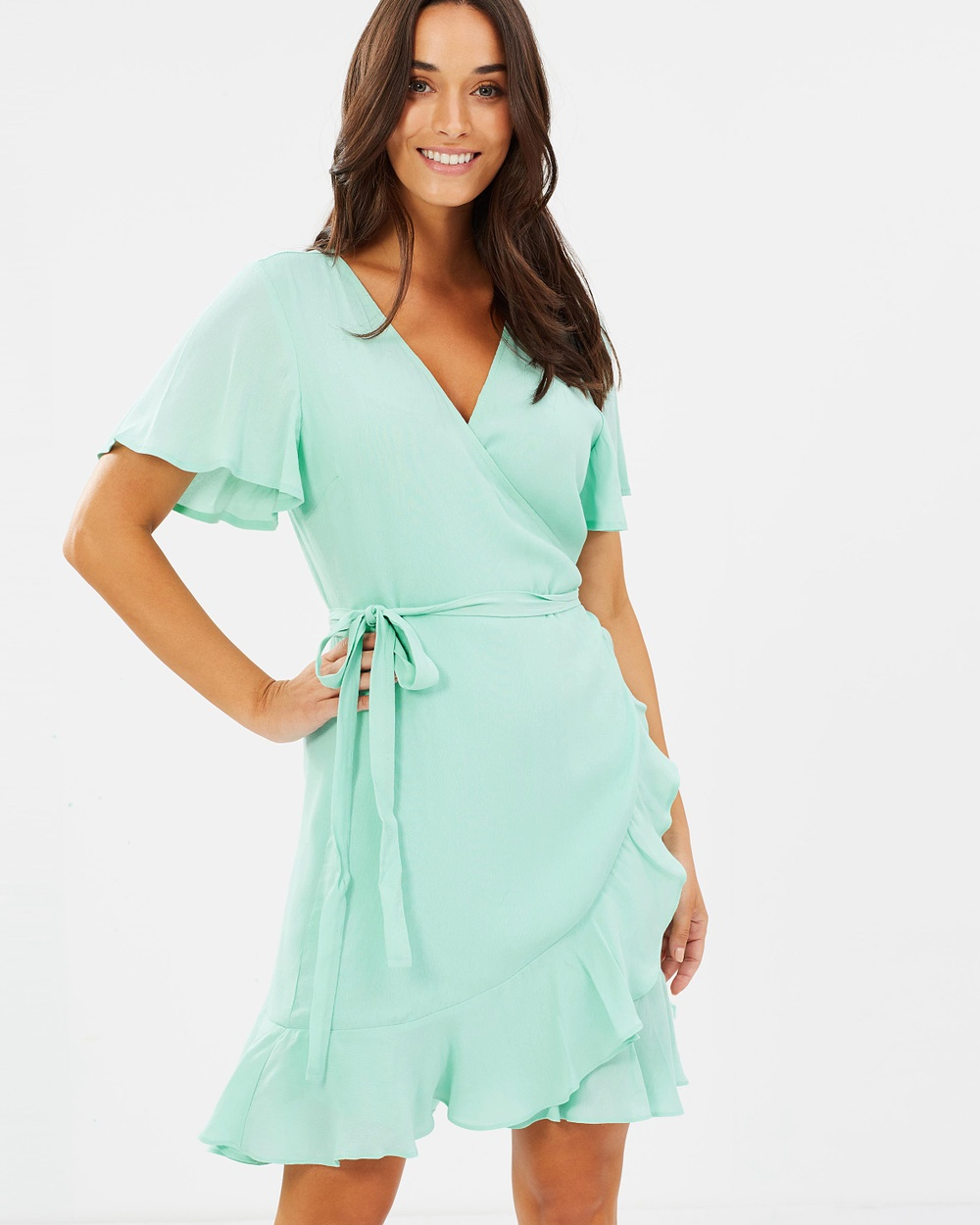 Fresh Soul Holiday Wrap Dress Dresses Mint Holiday Wrap Dress