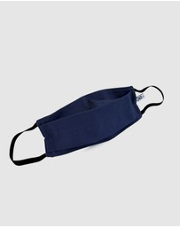 Ford Millinery - Navy Fabric Face Mask