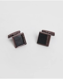 Ted Baker - Rumour Solid Leather Square Cufflinks