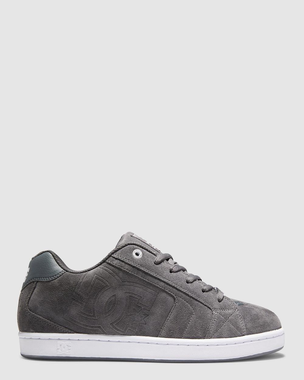 DC Shoes Mens Net LE Shoe Sneakers Dark Shadow