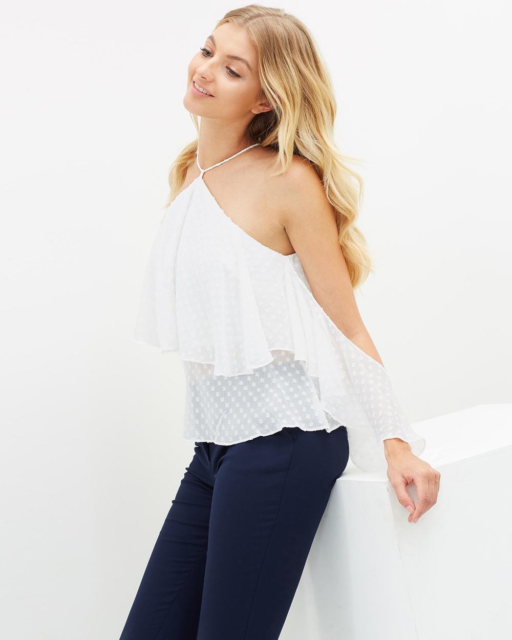 Airlie Versilla Flare Top Tops Ivory Versilla Flare Top