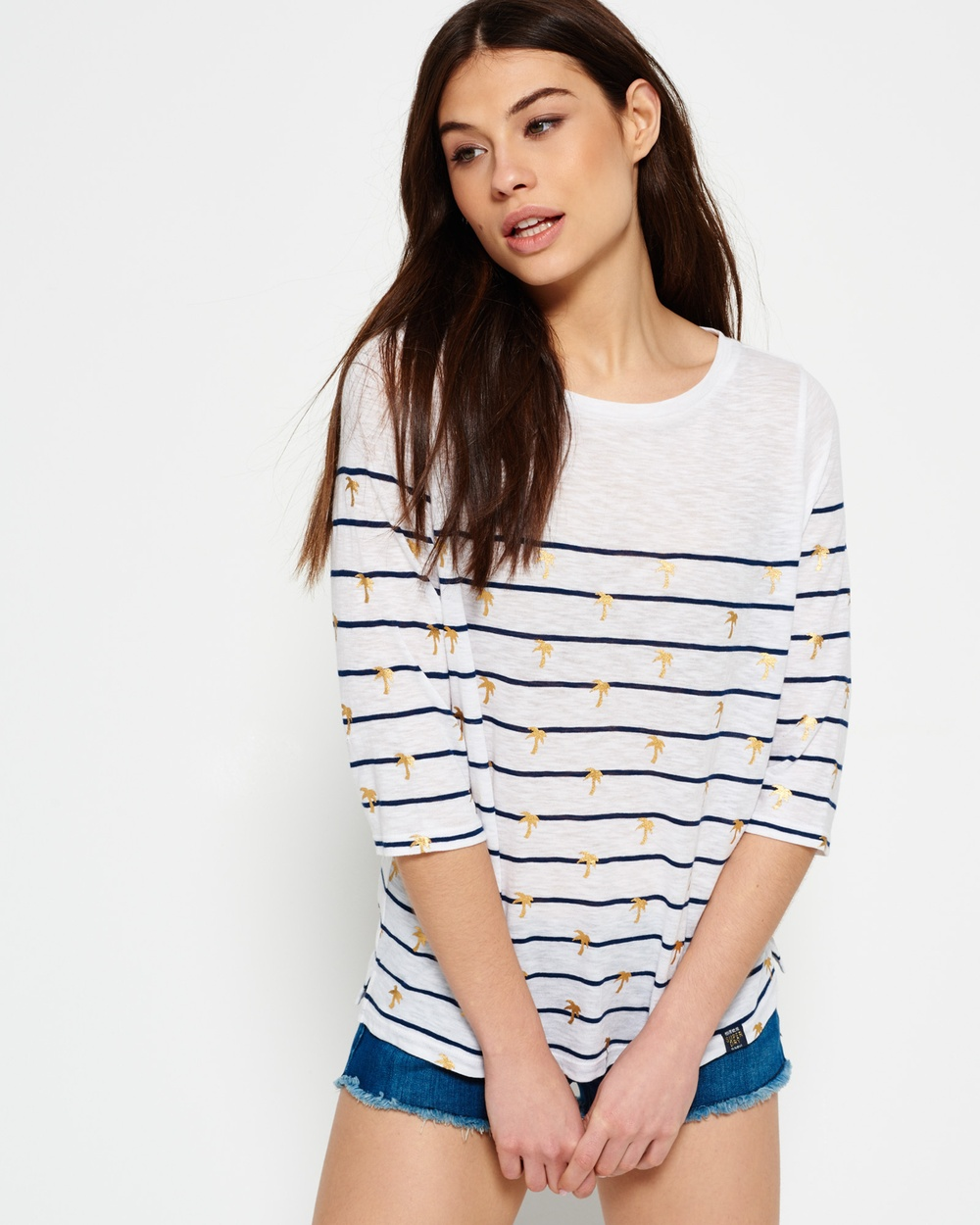 Superdry Conversational Breton Top Tops Stripe Palm Conversational Breton Top