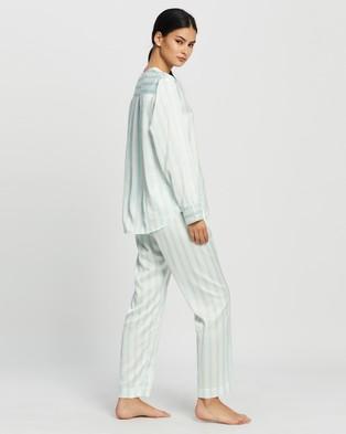 Jasmine and Will Portofino Long Pyjama Set - Two-piece sets (Skyway Blue Stripe)