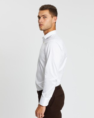 3 Wise Men Twill Tailored Shirt - Shirts & Polos (White Twill)