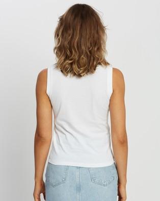 AllSaints Jasmine Immy Tank - T-Shirts & Singlets (Optic White)