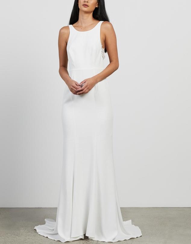Women Lina Lace Insert Wedding Dress