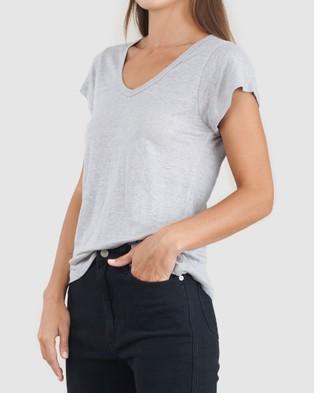 Amelius Newport Linen T Shirt - T-Shirts & Singlets (Grey)