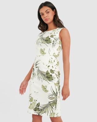 Forcast Ria Floral Pencil Dress - Dresses (Ivory)