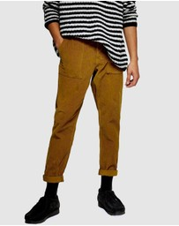 Topman - Corduroy Tapered Trousers