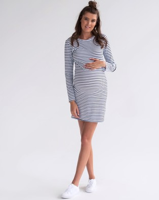 legoe – St Tropez Dress – Dresses (Navy & White Stripe)