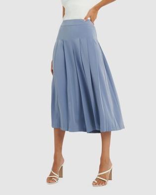 Forcast Adele Pleat Culottes - Pants (Forever Blue)