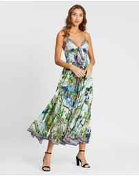 Camilla - Long Dress with Tie Front