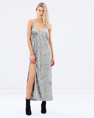 Steele – Shadow Slip Dress Grey Velvet