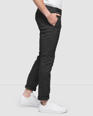 Wayver Slim Stretch Chinos - Pants (Charcoal)