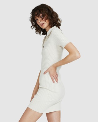 Subtitled Telse Collar Knit Dress - Dresses (NATURAL)