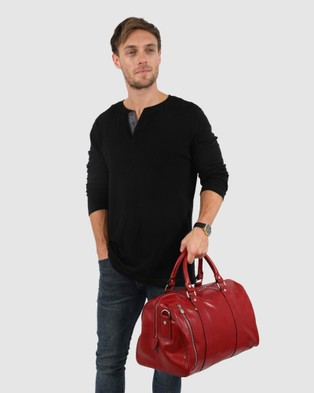 Republic of Florence Small Nardi Overnight Bag - Duffle Bags (Red)