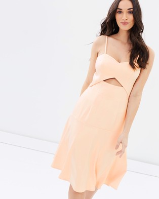 Romance by Honey and Beau – Vision Cut Out Dress Blush