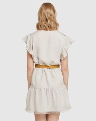 Oxford Cece Linen Dress - Dresses (Brown)