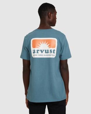 Arvust - Rising Sun Patch T Shirt Short Sleeve T-Shirts (GREEN) T-Shirt