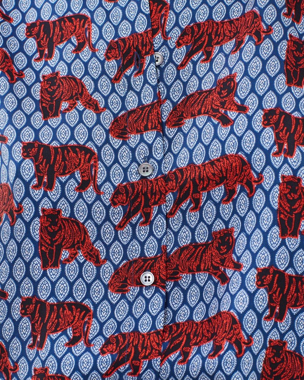d69ab937b1890 Lentil Silk Twill Tiger Foulard Top by J.Crew Online