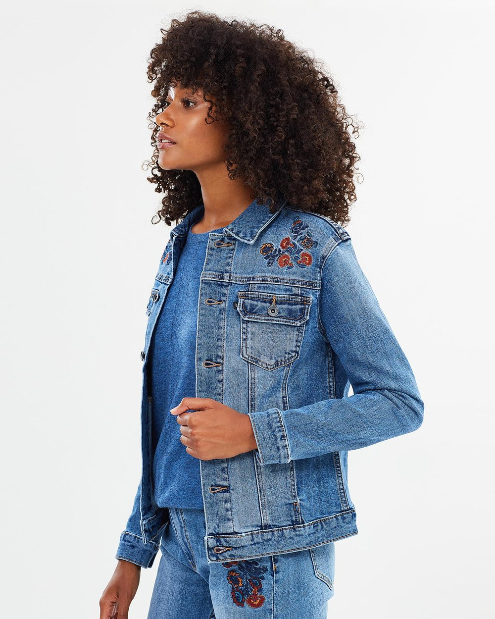 Lizzy Embroidered Denim Jacket by Jag Online   THE ICONIC   Australia