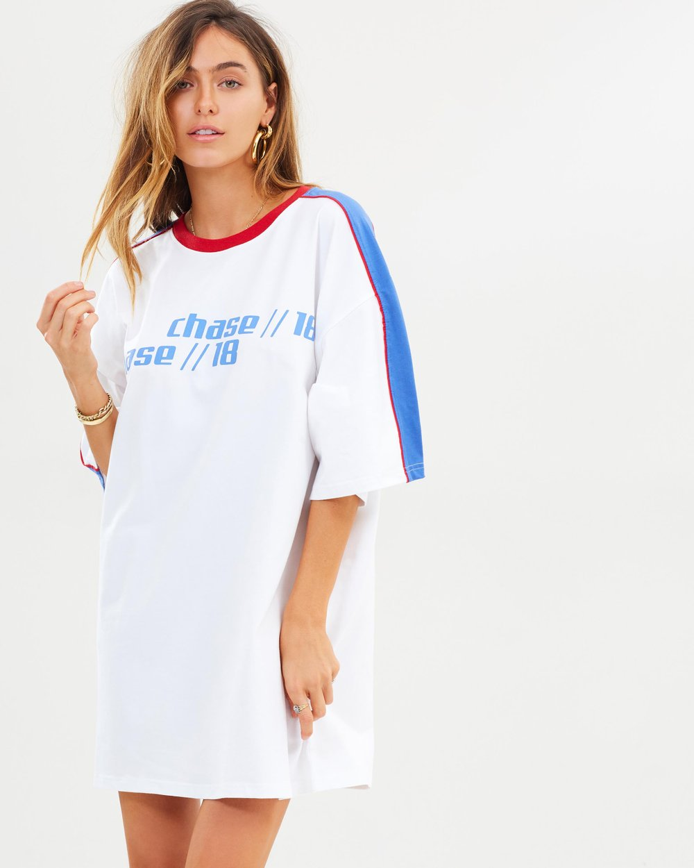 770dfc08a2 Oversized Racing SS T-Shirt Dress by Missguided Online