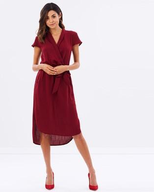 Atmos & Here – Bonnie Wrap Dress Burgundy