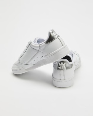 adidas Originals Continental 80   Women's - Sneakers (Cloud White, Cloud White & Silver Metallic)