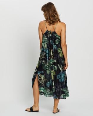 JETS Evoke Maxi Dress - Swimwear (GRN PLM)