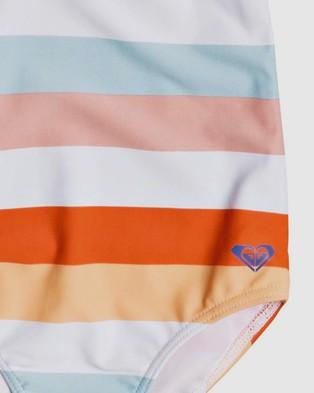 Roxy Girls 2 7 Jolis Parasols One Piece Swimsuit - One-Piece / Swimsuit (BRIGHT WHITE WARM ST)