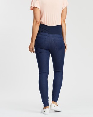 Soon Maternity Coco Super Stretch Overbelly Denim Jeans - High-Waisted (Indigo)