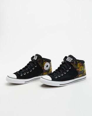 Converse Chuck Taylor All Star High Street Logo Print   Men's - Sneakers (Black, Multi & White)