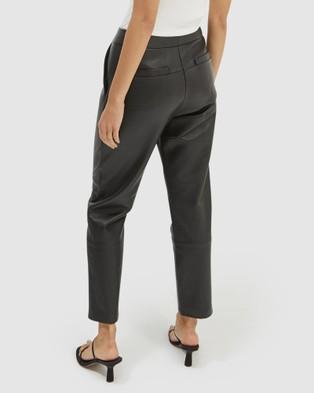 SABA Alice Leather Pants - Pants (Black)