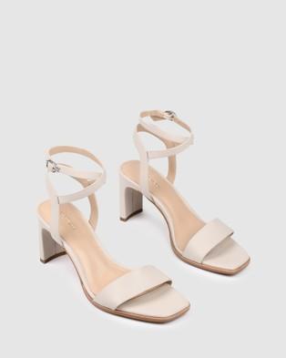 Jo Mercer Natsu Mid Heeled Sandals - Sandals (BONE LEATHER)