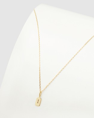 Luna Rae Solid Gold The Letter I Necklace Jewellery Gold