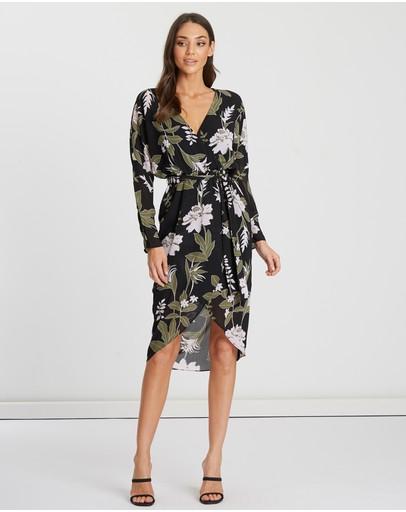 Tussah Francesca Midi Dress Dark Exotic Garden