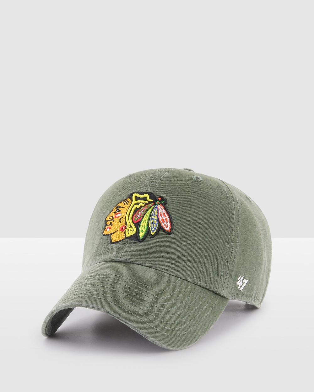47 Chicago Blackhawks Moss '47 Clean Up Hats Moss
