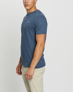 Ben Sherman Chest Embroidery Tee - T-Shirts & Singlets (Mood Indigo)