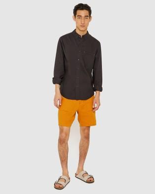 Jag Washed Oxford Shirt - Shirts & Polos (Washed Black )