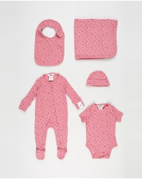 Cotton On Baby - Bubbysuit, Zip Romper, Beanie & Blanket Bundle - Babies