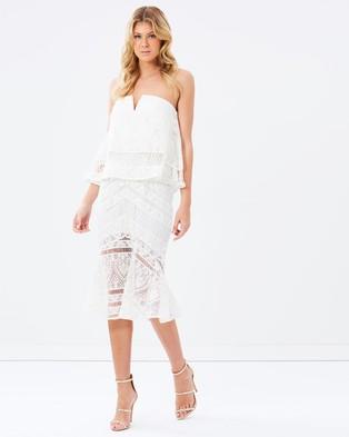 Ministry of Style – Venus Strapless Dress – Dresses (Ivory)