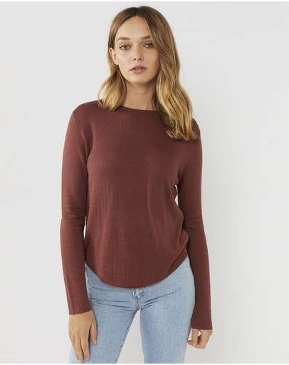 Everly Collective This Way Jumper Marsala