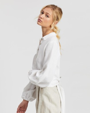 Saroka Cecile Shirt - Cropped tops (White)