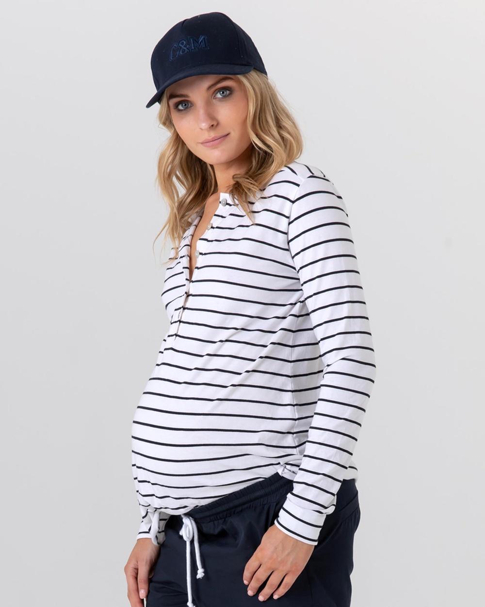 legoe Hendrix Organic Cotton Tee T-Shirts & Singlets Stripe