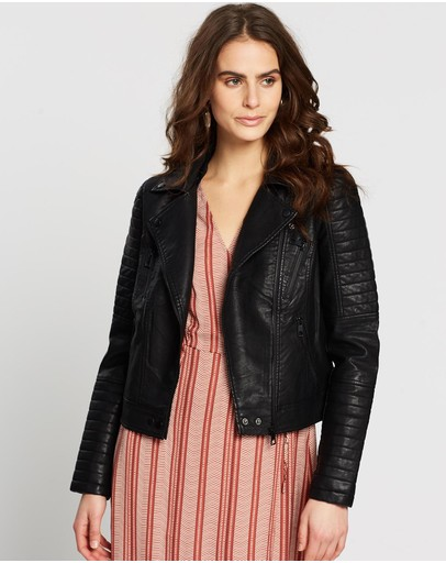Vero Moda - Sandi Faux Leather Jacket