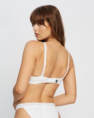 Calvin Klein CK One Cotton T Shirt Bra - Underwire Bras (White)