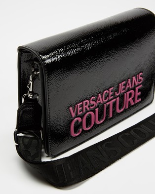 Versace Jeans Couture Logo Cross Body Bag - Bags (Black & Pink)